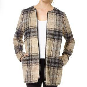 Wilfred Aritzia Laboratoire Plaid Jacket Large
